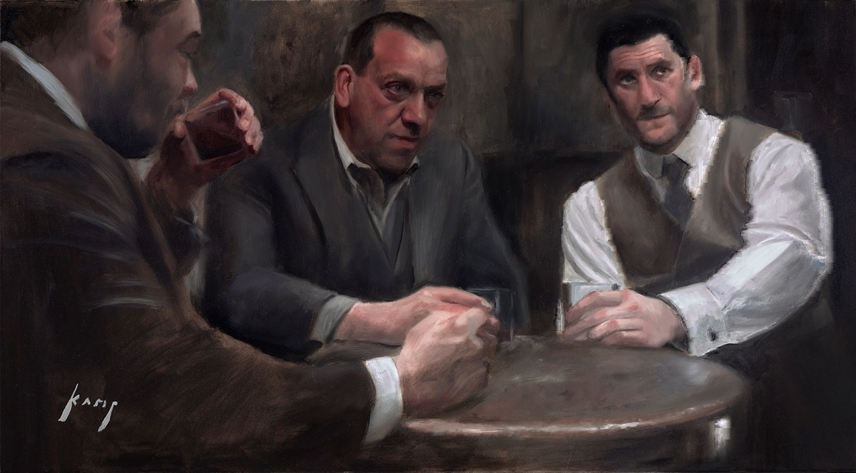 Once Upon a Time in London by Vincent Kamp -  sized 39x22 inches. Available from Whitewall Galleries